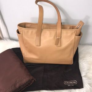 COACH Large Leather Diaper Shoulder Bag